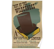 WPA United States Government Work Project Administration Poster 0518 Out of the Wilderness Folk Festival Poster