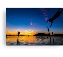 Diving Sun Canvas Print