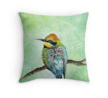 Rainbow Bee Eater Throw Pillow
