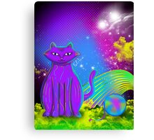 cat with yarn Canvas Print