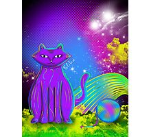 cat with yarn Photographic Print