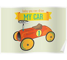 Vintage toy car print Poster