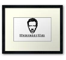 House - Everybody Lies Framed Print