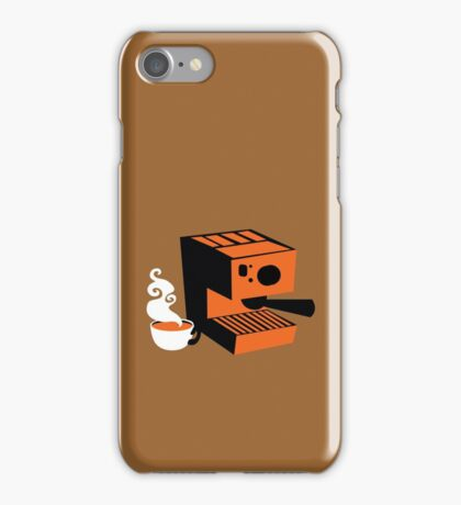 Trendy barrista Italian Coffee machine with a cup of coffee iPhone Case/Skin
