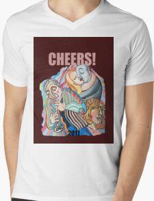 CHEERS, 2011 Mens V-Neck T-Shirt