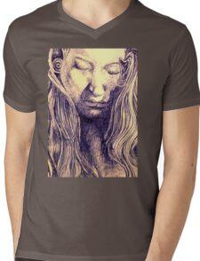 Angel Blue Mens V-Neck T-Shirt