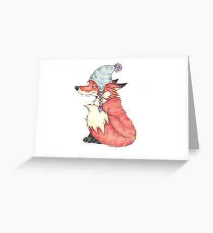 The Furry Fox Greeting Card