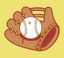 Baseball mit with a baseball star ball Kids Tee
