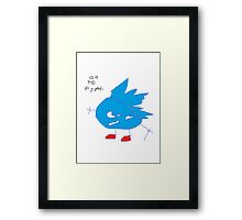go to fast Framed Print