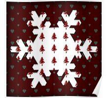 Christmas Snowflake - PRINT Poster