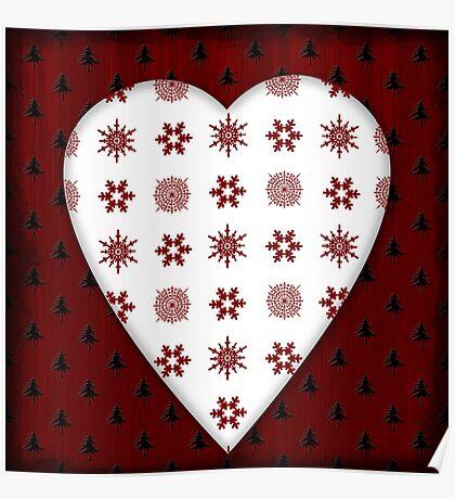 Christmas Heart - PRINT Poster