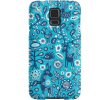 On high Heels Deer in blue Samsung Galaxy Case/Skin