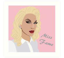 Miss Fame Beauty Marked Queen Art Print