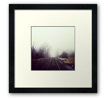 Train Track Addiction Framed Print