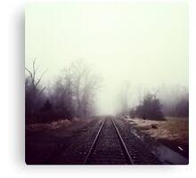 Train Track Addiction Canvas Print