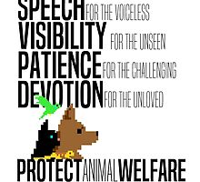 Protect Animal Welfare (black text) by Charlotte Gledhill