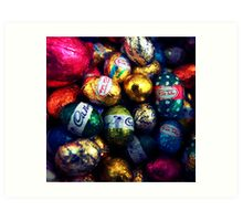Lots and Lots of Easter Eggs In a Bucket Art Print