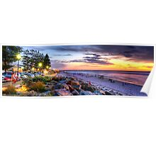Sunset Over Henley Beach - Panorama Poster