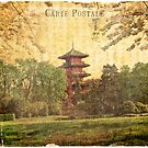 Japanese Tower in Belgium - Forgotten Postcard by Alison Cornford-Matheson