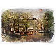 Forgotten Postcard Amsterdam, The Netherlands Poster