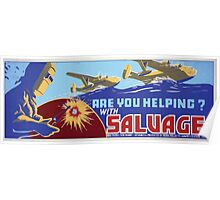WPA United States Government Work Project Administration Poster 0386 Are You Helping with Salvage Poster