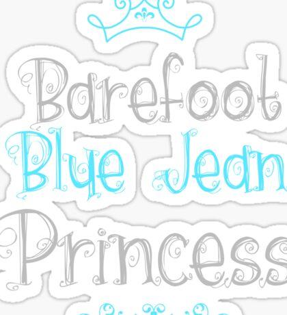 Blue Jean Princess Sticker