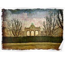Parc Cinquantenaire, Belgium – Forgotten Postcard Poster
