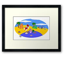 70 Million Years B.C. (Before Clothes) Image Only Framed Print