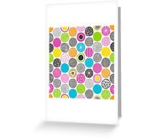 Dots Geometric Multicolor Pattern Greeting Card