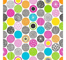 Dots Geometric Multicolor Pattern Photographic Print