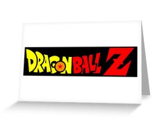 dragon ball z anime manga shirt Greeting Card