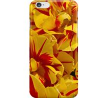 Red striped Yellow Tulip iPhone Case/Skin