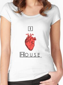 I Love House Women's Fitted Scoop T-Shirt