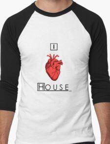 I Love House Men's Baseball ¾ T-Shirt