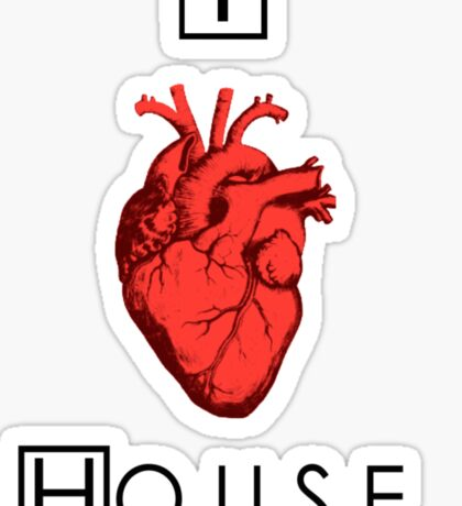I Love House Sticker