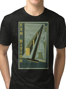 WPA United States Government Work Project Administration Poster 0718 Metropolitan Housing Project Sketches Tri-blend T-Shirt
