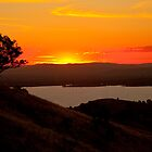 Sunset over Lake Hume... by John Vandeven