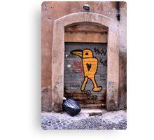 Graffiti Italian style Canvas Print