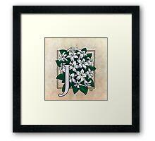 J is for Jasmine Framed Print