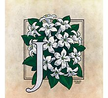 J is for Jasmine Photographic Print