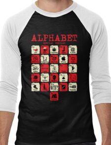 Alphabet Men's Baseball ¾ T-Shirt
