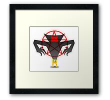 Shadow of the cat Framed Print