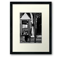 Mobile Phone....? ? ? Framed Print