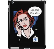 FBI Agent // Scully XFiles Lichtenstein  iPad Case/Skin