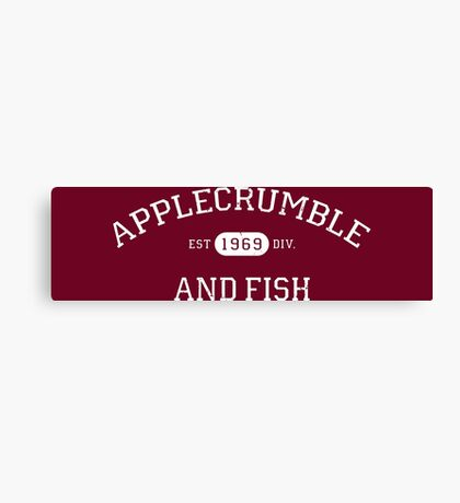 Applecrumble and Fish Canvas Print