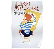 WPA United States Government Work Project Administration Poster 0161 Art Classes for Children Poster