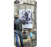 A Paintbrush in Montmartre iPhone Case/Skin