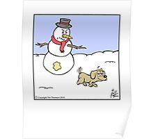 Snowman prank Poster