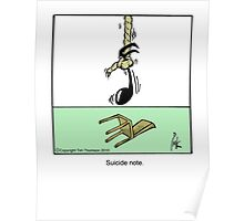 Suicide note. Poster