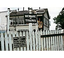 Cemmes Road signal box, Wales, UK. 1970s Photographic Print